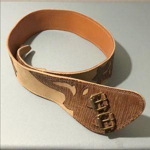 Ralph Lauren Collection Leather Suede Belt Medium
